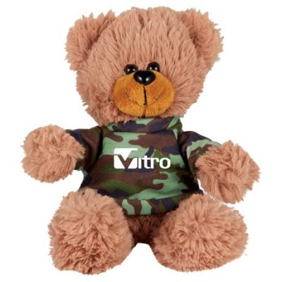 "6"" Sitting Plush Bear with Shirt"