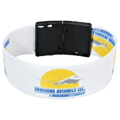 "Full Color 1"" Wristband w/ Clip"