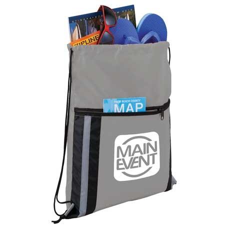 Deluxe Reflective Drawstring Bag