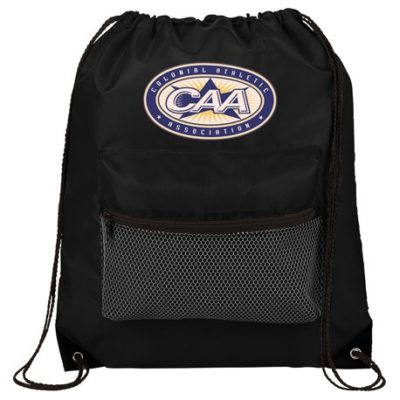 Mesh Front Pocket Drawstring Bag