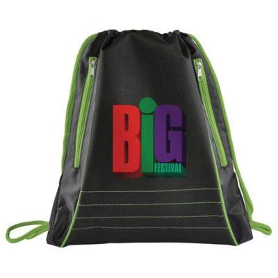 Neon Deluxe Drawstring Bag