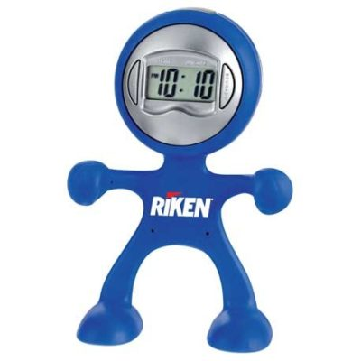 Flex Man Digital Clock