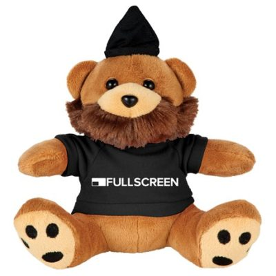 "6"" Hipster Plush Bear with Shirt"