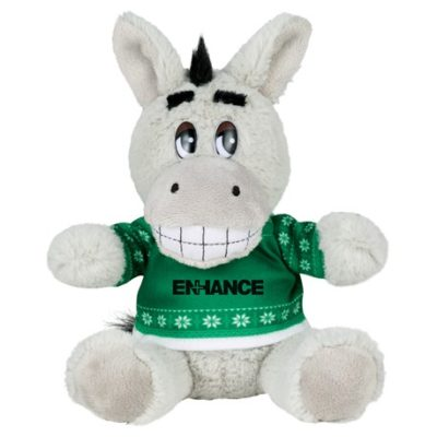 "6"" Ugly Sweater Plush Donkey"