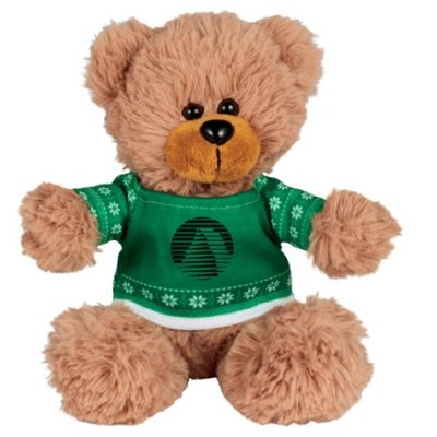 "6"" Ugly Sweater Sitting Plush Bear"