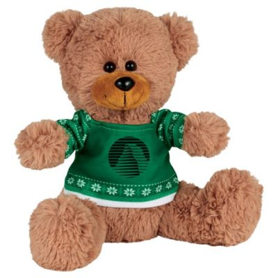 "8"" Ugly Sweater Sitting Plush Bear"