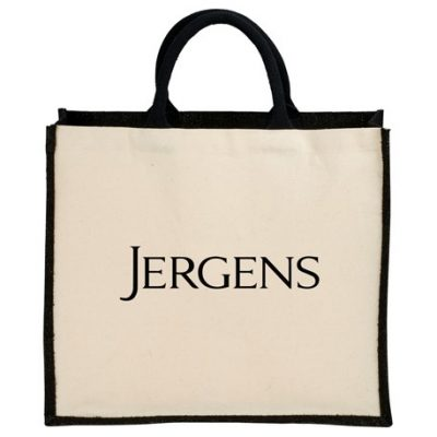 Metallic Jute Cotton Canvas Shopper Tote